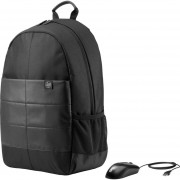 """Mochila HP Classic Backpack y Mouse 15.6""""-Negro"""