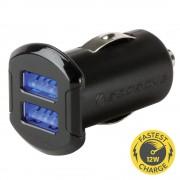 Incarcator auto Dual 12 W iluminat reVOLT™ (Negru)