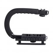 DSLR Camera Action Grip Stabiliserende Handvat Zwart C-vormige beugel Stabilisator voor DSLR 'S Camcorders Telefoon WSA-641A