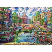 Puzzle Cobble Hill - Amsterdam Canal, 1.000 piese (Cobble-Hill-80180)