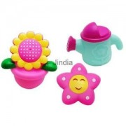 Alcoa Prime 3 Pcs Bath Toy for Child Baby Water Play Fun Squirter Sunflower Watering Can