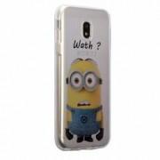 Husa Silicon Transparent Slim Minion Whaaat Motorola MOTO E4 Plus