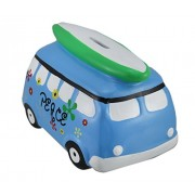 Groovy Blue Beach Ready Camper Van Coin Bank