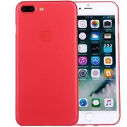 Para IPhone 8 Plus Y 7 Plus Frosted Protector Transparente Volver Funda (rojo)
