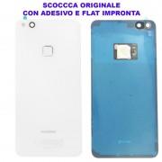 Copribatteria Originale Back Cover Huawei P10 Lite BIANCO BIANCA Scocca Vetro WAS-L03T