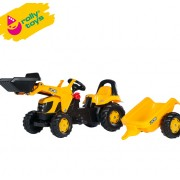 Traktor na pedale sa prikolicom i utovarivačem Rolly Kid JCB