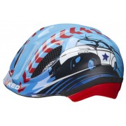 KED Meggy Trend Police - casco bici - bambino - Light Blue/Red