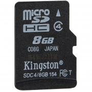 Kingston Clase 4 8G 16GB MicroSDHC TF Tarjeta De Memoria Flash De 4 MB / S Velocidad Mínima