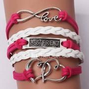 Dames Bedelarmbanden Lederen armbanden Uniek ontwerp Vriendschap Modieus Met de hand gemaakt Initial Jewelry PERSGepersonaliseerd