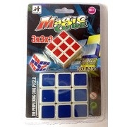 Magic Square Cube (Combo of 2 Cubes) 1 Big & 1 Small. Super Smooth 3x3x3 Puzzle High Speed Kids Rubik's Cube