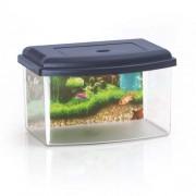 COBBYS PET Akvárium műanyag 2 tetővel és háttérrel 28x20x17,5cm 5,5l