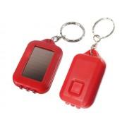 NTR LAMP09RD 3LED-es napelemes kulcstartós elemlámpa - piros
