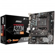 Tarjeta Madre MSI AMD A320M-A PRO MAX AM4 AMD A320 32GB DDR4 para AMD