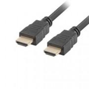Кабел Lanberg HDMI v2.0, от HDMI(м) към HDMI(м), 1m, черен