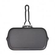 Chasseur Grill fonte rectangle poignée amovible 34 cm noir Chasseur
