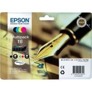 Epson Pack ahorro cartuchos de tinta original EPSON 16, Bolígrafo y crucigrama, C13T16264022, T1626 (Caja Abierta)