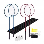 Set badminton 4 palete + fileu Spokey Fun Start