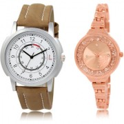 The Shopoholic White Rose Gold Combo Fashionable Fancy Collection White And Rose Gold Dial Analog Watch For Boys And Girls Mens Watches Stylish