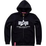 Alpha Industries Basic Zip-Hoodie Svart L