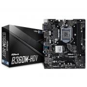 MB ASRock B360M-HDV, LGA 1151v2, micro ATX, 2x DDR4, Intel B360, S3 6x, VGA, DVI-D, HDMI, 36mj