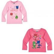 PJ Masks Pyjamashjältarna, T-shirt, barn (Mörkrosa, 8 ÅR - 128 CM)