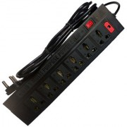 6+1NEW EXTENSION CORD BOARDS ELECTRIC POWER STRIP SURGE PROTECTOR MULTI PLUG 6 Socket 6 Socket Surge Protector (Black