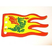 LEGO ~ Classic Vintage Cloth Dragon Masters Flag ~ 5x8 (dot sized) ~ 4 hole