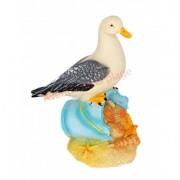 Mouette posée sur seau de plage 12 cm