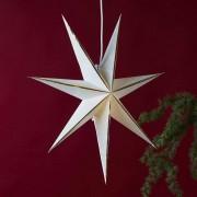 Lysa star, paper, white/gold
