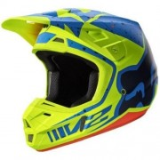 FOX V2 Nirv Helmet #17372-586 Albastru-Galben