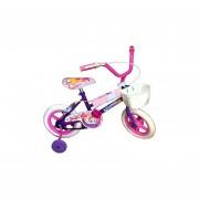Bicicleta Infantil Rodado 12 Ruedas Macizas C/rueditas-Rosa