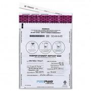 Freezfraud Tamper-Evident Deposit Bags, 9 X 12, White, 100/box