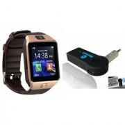 Mirza DZ09 Smart Watch and Car Bluetooth for LG OPTIMUS 4X HD(DZ09 Smart Watch With 4G Sim Card Memory Card| Car Bluetooth)