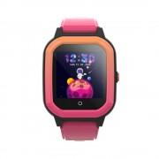 Ceas Inteligent pentru copii WONLEX KT20 4G Roz, cu GPS, apelare video, rezistent la apa, localizare WiFI si monitorizare spion