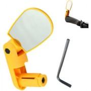 Futaba Mini Rotate Bicycle Rear view Handlebar Mirror - Yellow