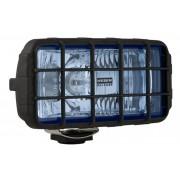 Proiector auto Wesem 12/24V bec H3 182x86x81mm geam albastru carcasa de plastic neagra, cu lumina de drum , 1 buc. Kft Auto