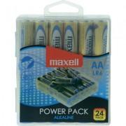 Алкални батерии MAXELL LR6 1,5V AA 24 бр. блистер PVC case - ML-BA-LR6-24PK