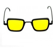 0303 FASHION HUB Retro Square Sunglasses(Yellow)