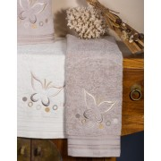 Set de 6 prosoape baie Valentini Bianco Grey