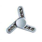 Jucarie Smart Antistres Fidget Spinner 9 Ball Metallic Silver