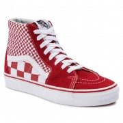 Vans Sneakersy VANS - Sk8-Hi VN0A38GEVK51 (Mix Checker) CHili Pepper/True White