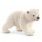 Figurina animal pui de urs polar mergand