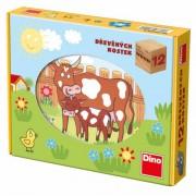 Puzzle cubic Animale de la ferma Dino Toys