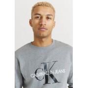 Calvin Klein Jeans Sweatshirt Iconic Monogram Crewneck Grå