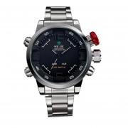 Reloj De Acero WH2309 Inoxidable De La Plata De Prado2u WEIDEMen