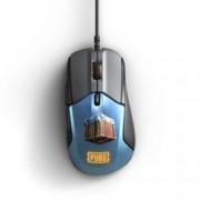 Мишка SteelSeriesRival 310 PUBG Edition, оптична(12000 dpi), гейминг, USB, черна/синя