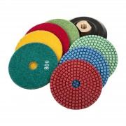 MSW Set di 7 dischi abrasivi - fino a grana 3.000 - Per uso professionale