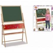 Simba toys eichhorn 100002569 - lavagna magnetica in legno con cavalletto