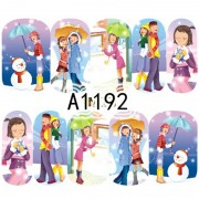 12 Ontwerpen Cartoon Meisjes Nail Art Water Transfer Sticker Volledige Wraps Winter Vrouwen Gemengde Decals Nail Tips Decoratie LAA1189-1200 SWEET TREND