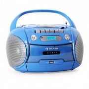 Auna Boomboy Radiocassette CD USB MP3 azul